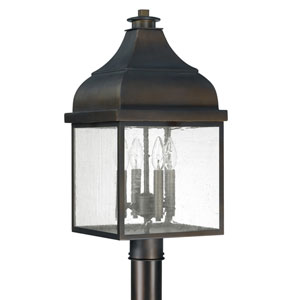 Westridge Old Bronze Four-Light Outdoor Post Mount