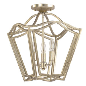 Winter Gold Three-Light Foyer Pendant
