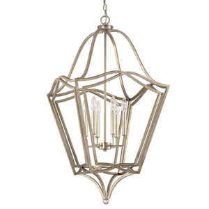 Winter Gold Six-Light Foyer Pendant