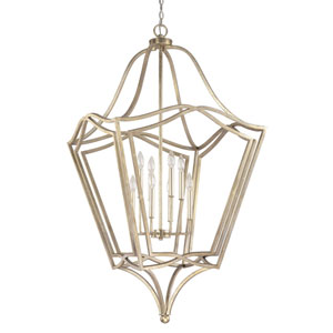 Winter Gold Eight-Light Foyer Pendant