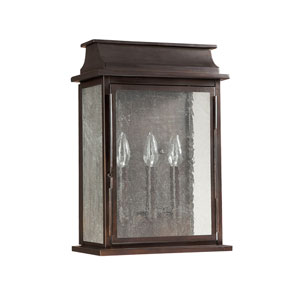 Bolton Old Bronze Three Light Wall Lantern