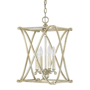 Alexander Winter Gold Four-Light Foyer Fixture
