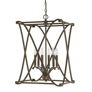 Alexander Burnished Bronze Six-Light Foyer Fixture