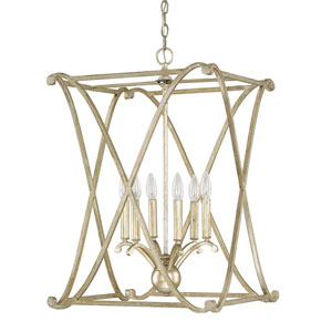 Alexander Winter Gold Six-Light Foyer Fixture