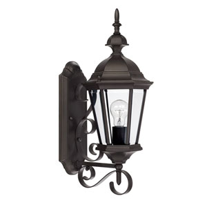Carriage House Old Bronze One-Light 23-Inch Wall Mount