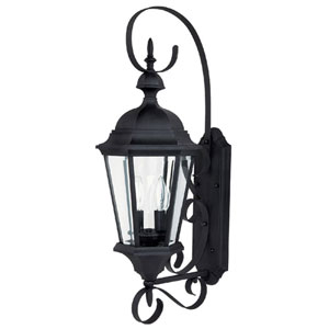 Carriage House Medium Black Outdoor Wall Mount