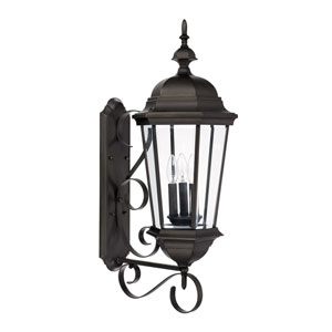 Carriage House Old Bronze Three-Light Wall Mount