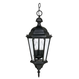 Carriage House Black Outdoor Hanging Pendant