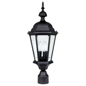 Carriage House Black Outdoor Post Mount