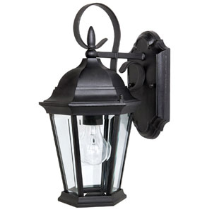 Carriage House Extra-Small Black Outdoor Wall Mount
