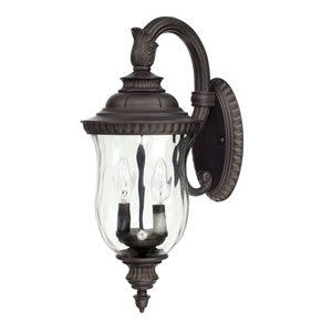 Ashford Old Bronze Two-Light 8-Inch Wall Mount
