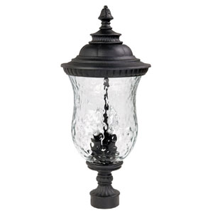 Ashford Black Outdoor Post Mount