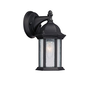 Main Street Black Small One-Light Outdoor Wall Light