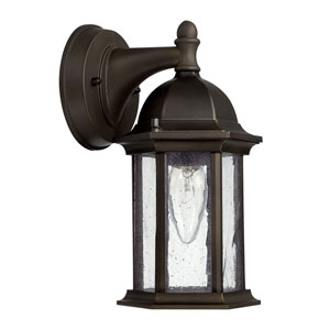 Main Street Old Bronze One-Light 5-Inch Wide Wall Mount