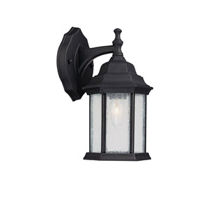 Main Street Black Medium One-Light Outdoor Wall Light