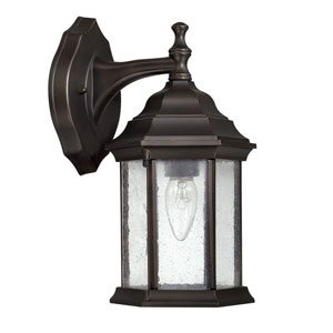 Main Street Old Bronze One-Light 6.5-Inch Wide Wall Mount