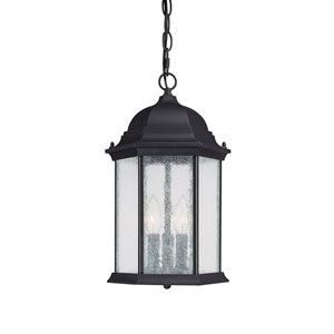 Main Street Black Three-Light Outdoor Pendant