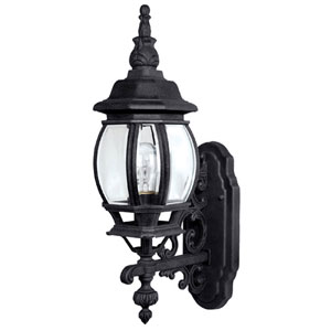 French Country Extra-Large Black Outdoor Wall Mount