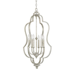 Blair Antique Silver Six-Light Foyer Fixture