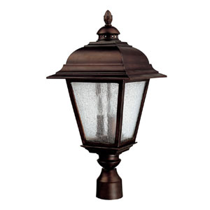 Brookwood Burnished Bronze Outdoor Post Mount