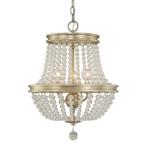 Handley Iced Gold Three-Light 15-Inch Chandelier