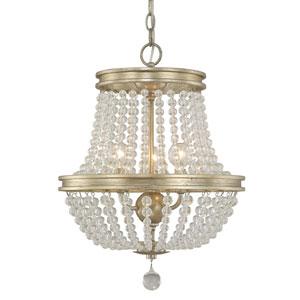 Handley Iced Gold Three-Light 15-Inch Chandelier