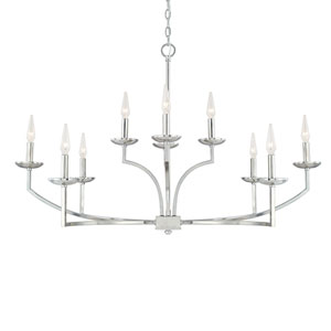 Jaxon Polished Nickel Ten-Light 41-Inch Chandelier