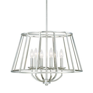 Jaxon Polished Nickel Six-Light 23-Inch Chandelier