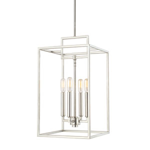 Polished Nickel Four-Light 11-Inch Chandelier