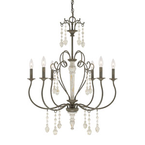Sofia French Country Six-Light 27-Inch Chandelier