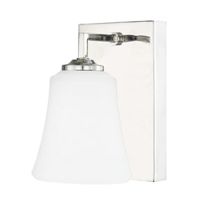 Jaxon Polished Nickel One-Light 5-Inch Wall Sconce