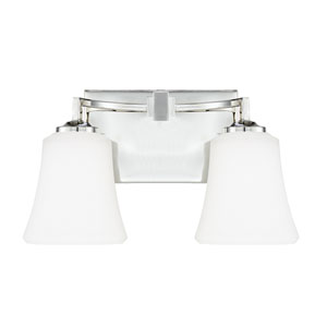 Jaxon Polished Nickel Two-Light 13.5-Inch Bath Vanity