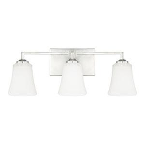 Jaxon Polished Nickel Three-Light 22.5-Inch Bath Vanity
