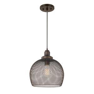 Burnished Bronze One-Light 11-Inch Pendant