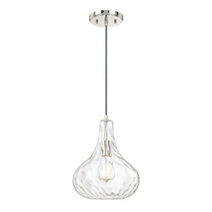 Polished Nickel One-Light 9-Inch  Mini Pendant