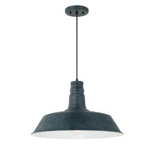 Weathered Zinc One-Light 18-Inch Pendant