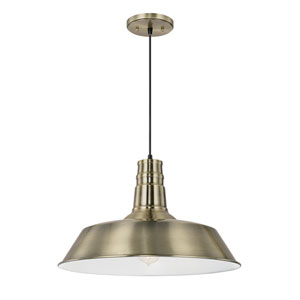 Brass One-Light 18-Inch Pendant