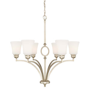 Marlow Winter Gold Six-Light 30-Inch Chandelier