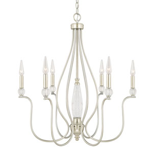 Olivia Champagne Six-Light 27-Inch Chandelier