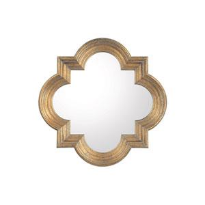 Antiqued Gold Mirror