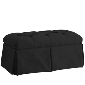 Premier Black 36-Inch Skirted Storage Bench