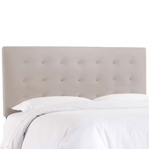 California King Premier Platinum 74-Inch Button Headboard