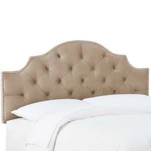 Full Mystere Mondo 56-Inch Tufted Notched Nail Button Headboard
