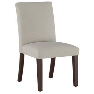 Velvet Light Gray 37-Inch Pleated Dining Chair