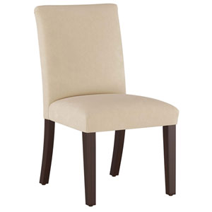 Velvet Pearl 37-Inch Pleated Dining Chair