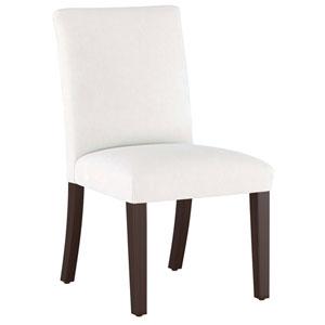 Velvet White 37-Inch Pleated Dining Chair