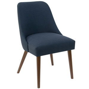 Linen Navy 33-Inch Dining Chair
