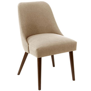 Linen Sandstone 33-Inch Dining Chair