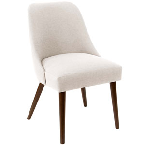 Linen Talc 33-Inch Dining Chair