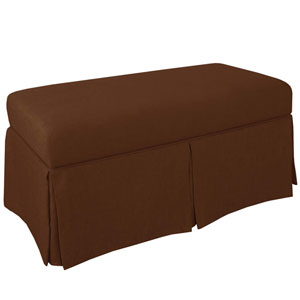 Linen Chocolate 36-Inch Storage Bench
